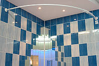 Карниз дугообразный 160х160 см d28 mmбелый для угловой ванны