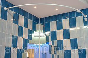 Карниз дугообразный 160х160 см d28 mm белый для угловой ванны