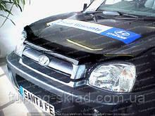 Дефлектор Хендай Санта Фе 1 (мухобійка на капот Hyundai Santa Fe I)