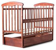 Ліжко Наталка (відкидна боковина, з маятником і ящиком, вільха темна