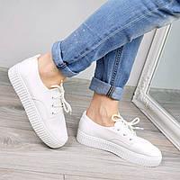 Кроссовки криперы Lighty белые, спортивная обувь