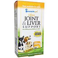 NutraLife, Препарат для здоровья суставов и печени питомцев, 200 мг, 30 кишечнорастворимых таблеток