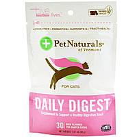 Pet Naturals of Vermont, Daily Digest, 30 жевательных таблеток со вкусом утки для кошек, 1.27 унций (36 г)