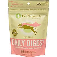 Pet Naturals of Vermont, Daily Digest (средство для пищеварения) для собак, 60 жевательных конфет в форме косточек со вкусом утки, 2,54 унции (72 г)