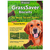 NaturVet, GrassSaver, печенья, вкусное арахисовое масло, 46 печений, 11.1 унции(315 г)