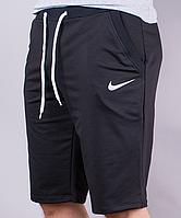 Шорты мужские спортивные эмблема ассорти черные, фото 1