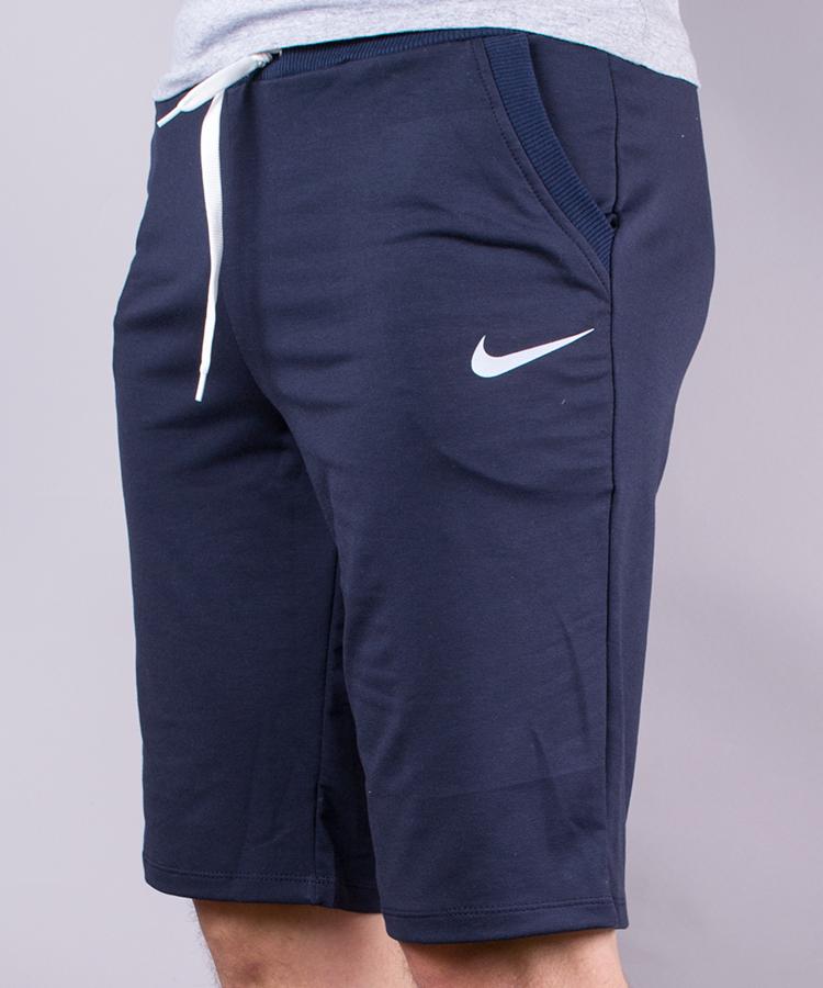 Шорты мужские спортивные эмблема ассорти синие