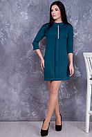 Трикотажное зеленое платье Искра ТМ Irena Richi 42-48 размеры