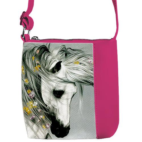 Розовая детская сумочка для девочки Лошадка