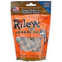 Riley's Organics, Угощение для собак, Большая кость, Арахисовое масло & меласса, 5 унций (142 г)