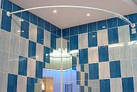 Карниз дугообразный 150х150 см белый d20 mm для угловой ванны