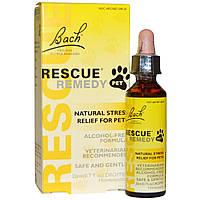 Bach, Оригинальные цветочные лекарства, Rescue Remedy Pet, для животных, пипетка на 0,7 жидкой унции (20 мл)