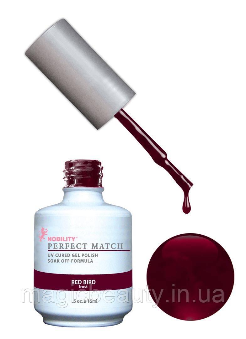 Гель-лак Lechat Perfect Match 33 RED BIRD - красный, с мелким шиммером, 15 мл