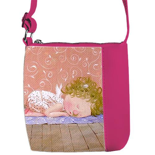 Малиновая сумочка для девочки с принтом Гапчинская Йога