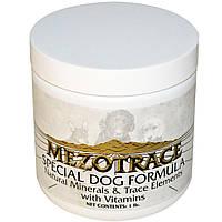 Mezotrace, Специальная формула для собак, натуральные минералы и микроэлементы с витаминами, 1 фунт
