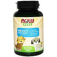Now Foods, Контроль за весом собак, 90 жевательных таблеток