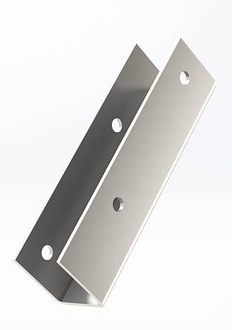 П-образный перфорированный кронштейн доски (95х20х26х1,5 мм). ТМ Кольчуга (Kolchuga), фото 2