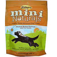 Zukes, Mini Naturals, не сухое и полезное мини-лакомство для собак, с арахисовым маслом, 6 унций (170 гр)