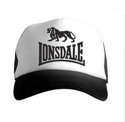 Спортивная кепка Lonsdale, Лонсдейл, тракер, летняя кепка, мужская, женская, белого и черного цвета, копия