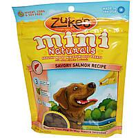 Zukes, Zukes, Натуральные мини-галеты, Полезное лакомство с семгой для собак, 6 унций (170 г)