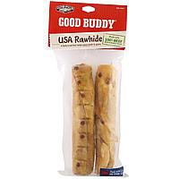 Castor & Pollux, Good Buddy, американская сыромятная кожа, палочки с ароматом курицы, 2 палочки