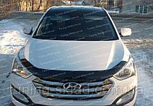 Дефлектор Хендай Санта Фе 3 ДМ (мухобійка на капот Hyundai Santa Fe 3 DM)