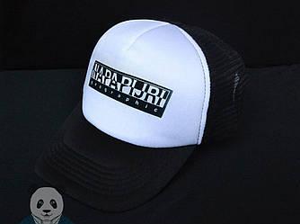 Спортивная кепка Napapijri, Напапиджи, тракер, летняя кепка, унисекс, белого и черного цвета, копия