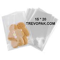 Прозрачные пакеты 15*20 для упаковки пряников, конфет (уп.100шт)