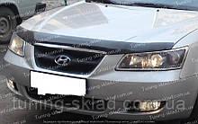 Дефлектор Хендай Соната НФ (мухобійка на капот Hyundai Sonata NF)