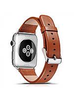 Ремешок I-Сarer для смарт-часов Apple Watch 38 мм Luxury Genuine Leather Series Brown