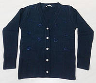 Ada Yildiz Школьная кофта на девочку р128-146 на пуговицах, синий