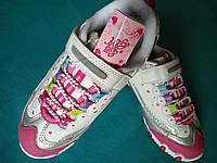 Кроссовки детские на девочку размеры 34, 35 Розово-белые Польша