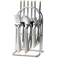 Набор столовых приборов Maestro MR-1528 24 предмета на металлической стойке