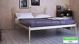 Кровать металлическая Розана - 1 / Rosana - 1 двухспальная 160 (Метакам) 1670х2100х1010 мм , фото 3
