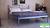 Кровать металлическая Розана - 1 / Rosana - 1 двухспальная 160 (Метакам) 1670х2100х1010 мм , фото 2