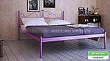 Кровать металлическая Розана - 1 / Rosana - 1 двухспальная 160 (Метакам) 1670х2100х1010 мм , фото 4