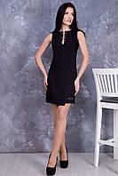 Летнее женское черное платье Делли ТМ Irena Richi 42-48 размеры