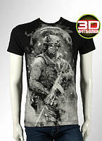 Футболка 3D футболки Воин партизан, фото 1