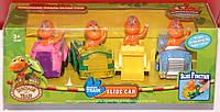 """Набор машинок для детей от 3 лет """"Поезд динозавров"""" Dinosaur Train Slide Car"""