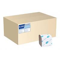 Туалетная бумага листовая, макулатурная, серая. B-303.