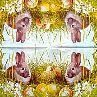 Салфетка декупажная 25x25см 10 Кроленя