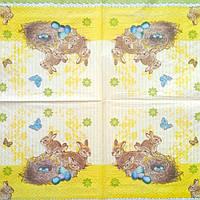 Салфетка декупажная 25x25см 10 Кролики