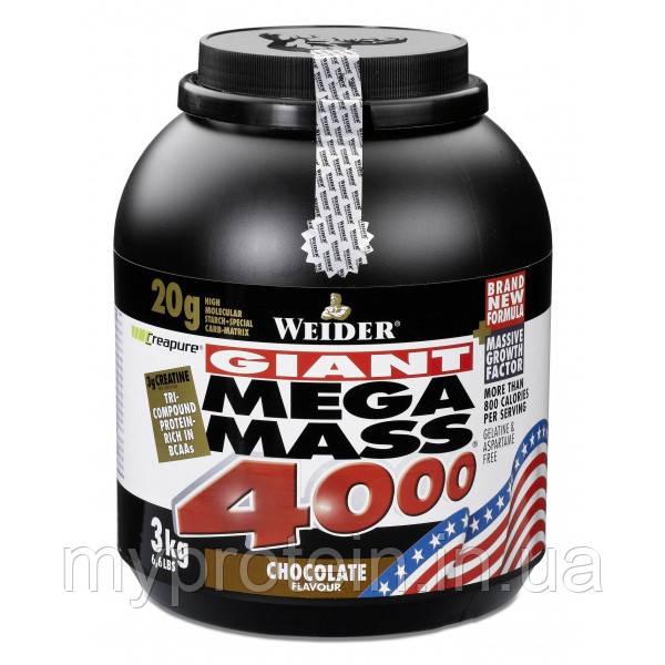 Weider Гейнер Мега масс Mega Mass 4000 (3 kg )