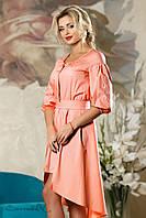 Женское нарядное летнее платье персиковое