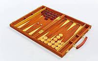 Настольная игра нарды 9922 в деревянном кейсе: дерево, размер доски 38х48см