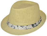 Шляпа челентанка солома жемчуг матиола серая