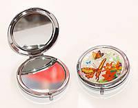 Косметическое складное зеркальце с бабочками