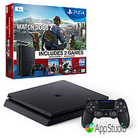 Sony PlayStation 4 (PS4) Slim 1Tb Watch Dogs 2 Bundle (Русская версия)