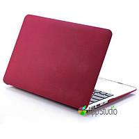 Пластиковый чехол-накладка для Apple MacBook Air 13.3 Texture Red
