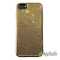 Чехол Luxury Crystal TPU Case for iPhone 7 Gold